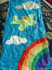 Unique Bear Blue banner or kite go fly a kite brand 25x54 in rainbow airplane