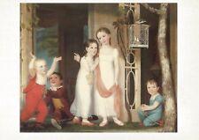 "Postcard  ""The Greenhorn Children"" c1818 Artist Unknown Joslyn Art Museum NrMINT"