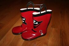 NWT Gymboree Stripes & Anchor Boy Size 10 Red Pirate  Rain Boots