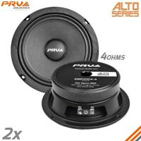 "2x PRV Shallow 6.5"" Midrange Slim Speakers Car Audio 200 Watts 4 Ohms 6MR200A-4"