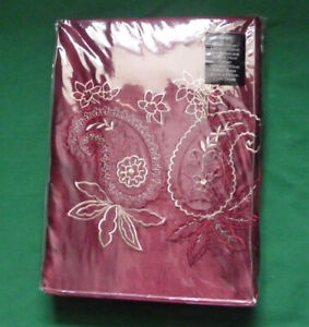 Single Bed Bedroom Set Duvet Cover Curtain - Wine Red