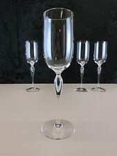 1 stück Art Deco Kristall Sektglas Weinglas im Schaft eingestochene Luftblase