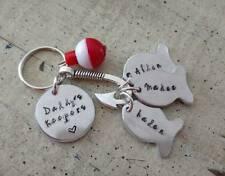 New listing Fishing Keychain Custom Personalized Dad Daddy Papa Grandpa Father's Day Gift