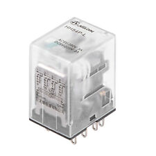 HH64P-L DC6V 14Pin 4NO+4NC Plastic Case Power Relay with Green LED Light.