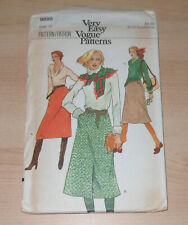 "VINTAGE 1970s VERY EASY VOGUE 9895 SLIM THREE-SKIRT PATTERN WAIST 28"" HIPS 38"""