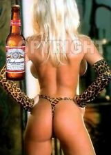 Fridge Magnet Sexy Budweiser Bud Beer Playmate animal print bikini ass bar art