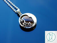 Tigers Eye Moon Natural Gemstone Pendant Necklace 50cm Healing Stone Chakra