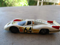 vintage Solido White 1969 Porsche 908 France Diecast Car