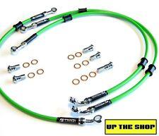 YAMAHA FZR1000 EXUP 1989-90 VENHILL F&R s/steel braided brake line hose set