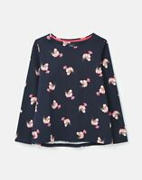 Joules Womens 212109 Bci Cotton Long Sleeve Printed Jersey Top - Navy Posy