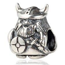 VIKING WARRIOR Genuine 925 Sterling Silver Charm Bead Fits European Bracelet