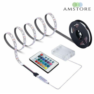 Battery Powered 1m 2m 3m 4m Led Strip Light Dimmable Touch Rgb Ip65 Waterproof