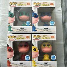 Funko Pop! Flintstones Red Yellow Green Blue Dino #406 1/2500 Shop Excl! RARE!