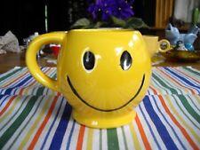 Vintage McCoy Yellow Smiley Face Mug ~