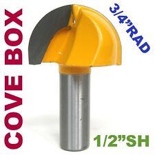 """1pc 1/2"""" SH 3/4"""" Rad, 1"""" Blade Cove Box Core Box Router Bit sct-888"""