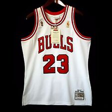 100% Authentic Michael Jordan Mitchell Ness 96 97 Finals Bulls Home Jersey 44 L