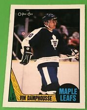 1987-88 O-Pee-Chee Vincent Damphousse Rookie Card. Back Of The Card Is Stained