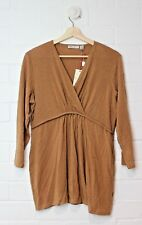 RIPE MATERNITY Crossfront Honey Coloured Blouse Size XL Size 16 BRAND NEW TAGS