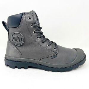 Palladium Pampa Sport Cuff WPS Gray Mens Size 9.5 Waterproof Boots 72992 064