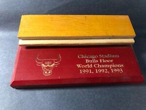 Chicago Bulls Chicago Stadium Game-Used Three-peat Floor 91/92/93