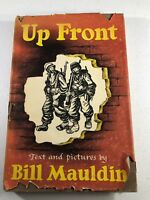 UP FRONT Text Pictures by Bill Mauldin WWII Cartoonist Vintage 1945 Humor Book