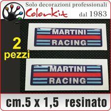 Adesivi Martini Racing resinati (2 pezzi) cm.5x1,5 domed sticker - Cod. 001590