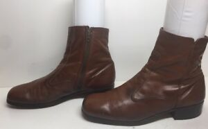 VTG MENS WALKOVER CASUAL LEATHER BROWN BOOTS SIZE ??