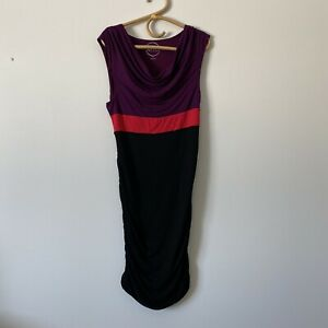 XL Womans INC INTERNATIONAL CONCEPTS Sleeveless Ruched color block Dress