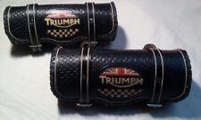TRIUMPH - bag leather tool roll chopper ORIGINAL  black