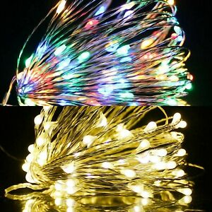 Christmas LED Copper Wire Light 100 200 Timer Memory Indoor Outdoor Decoration