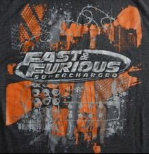 Vtg The Fast And The Furious Supercharged T-shirt Drift Promo Vin Diesel