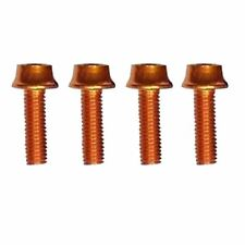 A2Z Water Bottle Cage Bolts 7075 T6 Aluminium Lightweight 4 Pcs, Orange
