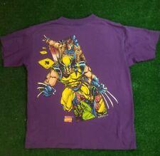 Marvel rare vintage Wolverine GAMBIT t-shirt snall 1993  X-Men