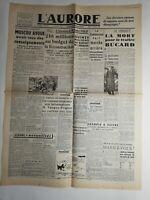 N265 La Une Du Journal L'aurore 21 février 1946 Moscou avoue