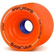 Longboard Wheels. Orangatang In Heat Race Longboard Wheels - Orange 75mm