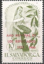 El Salvador Air Post Stamp -Scott #C187/A178 Overprint 10c Green OG Mint/LH 1960