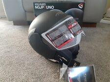 Nuevo Nitro NGJP uno cara abierta scooter moto casco de motocicleta Satén Negro S