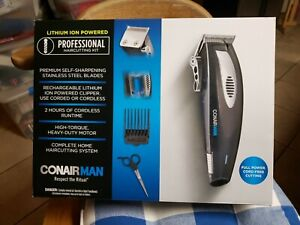ConairMan Lithium 20-piece Haircut Kit NEW IN BOX Lithium Ion Powered