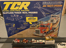 Vintage Ideal TCR Total Control Racing Slotless Jam Truck'n Speedway! + 5 Cars!