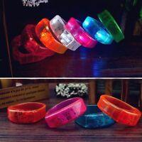 Music Activated Sound Control LED Flashing Bracelet Light Glow Bangles Wristband