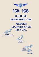 Bishko OEM Repair Maintenance Shop Manual Bound for Dodge All Models 1934 - 1936