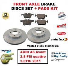 FOR AUDI A6 Avant 2.8 FSi quattro 3.0TDi 2011 FRONT BRAKE PADS + DISCS 345mm Dia