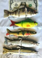 "5 count Shad Swimbaits 5"" and 6"" slow sink Swimbait Bass musky pike Lure"