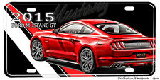 2015 Ford Mustang GT Red Aluminum License plate