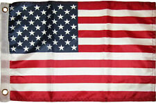 12x18 USA United States Flag 12'x18' boat car flag grommets Silk polyester