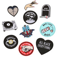 10PCS Embroidered Iron On Sew On Patches Set Badge Bag Fabric Applique Craft Cs!