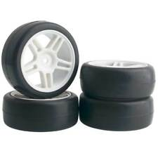 RC 905W-6018 Rubber Tires & Wheel Plastic 4Pcs For HSP HPI 1/10 On-Road Car