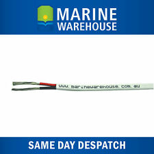 3mm Twin Core Sheath Battery Cable - Marine Tinned Copper Wire - Sold Per Metre