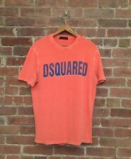 D2 Dsquared2 Green T-Shirt Sz Medium Salmon Pink