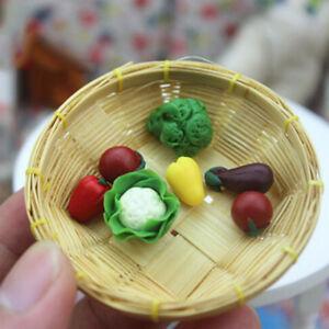 7Pcs/set Dollhouse toy model miniature food play mini pocket vegetables BDZY